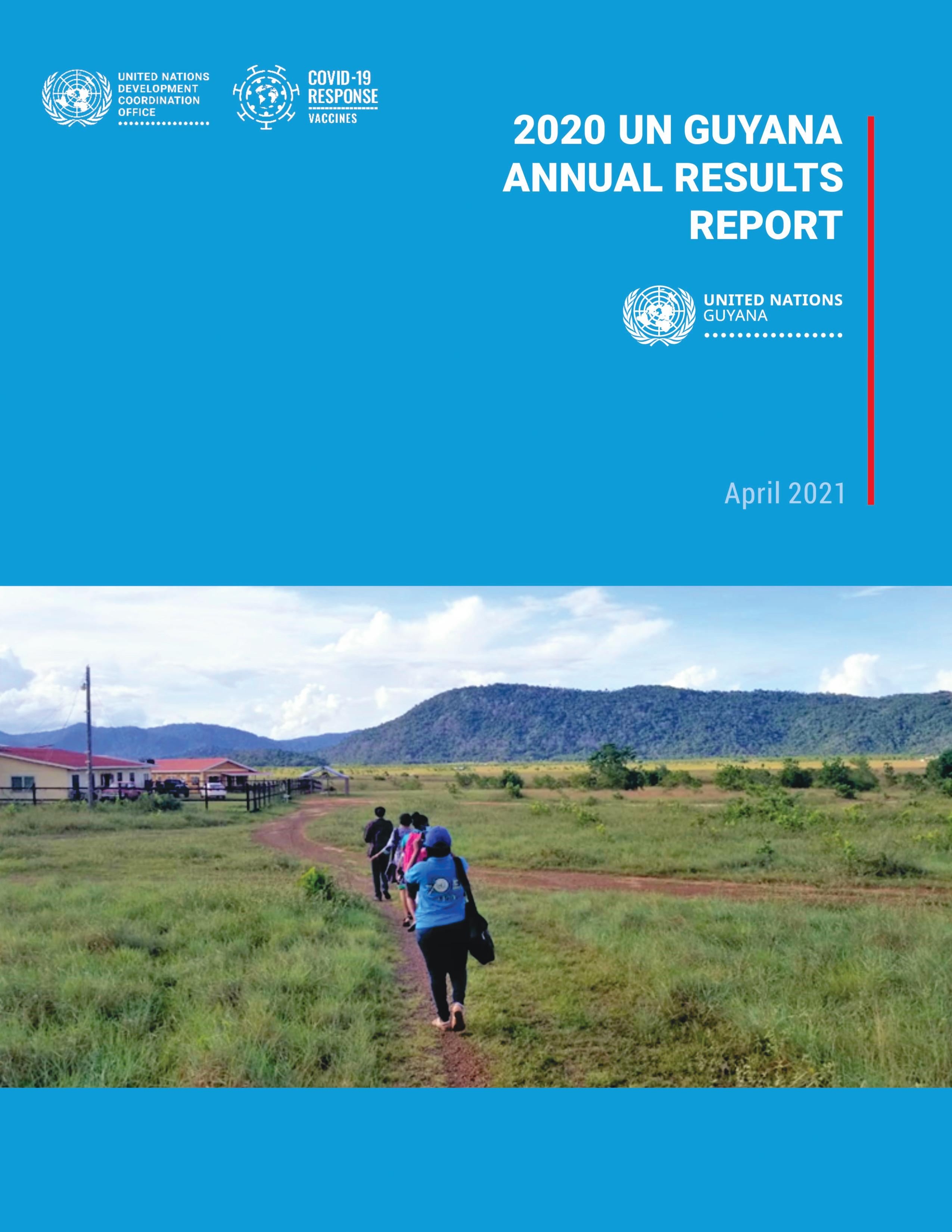 Cover of UNCT 2020 Results Report